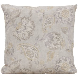 Sylvie Light Beige Fabric Square Accent Pillow