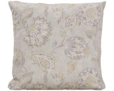 Sylvie Light Beige Fabric Square Accent Pillow