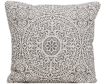 Tachenda Gray Fabric Square Accent Pillow
