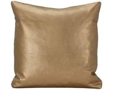 Sizzle Gold Vinyl Square Accent Pillow