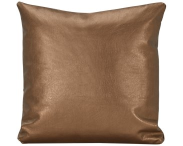 Sizzle Copper Vinyl Square Accent Pillow