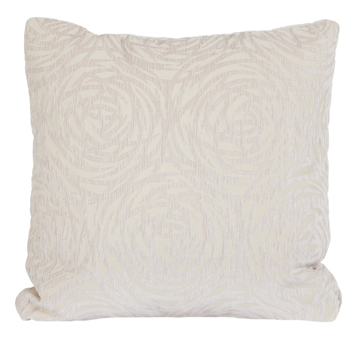 Mod Circles Light Beige Fabric Square Accent Pillow