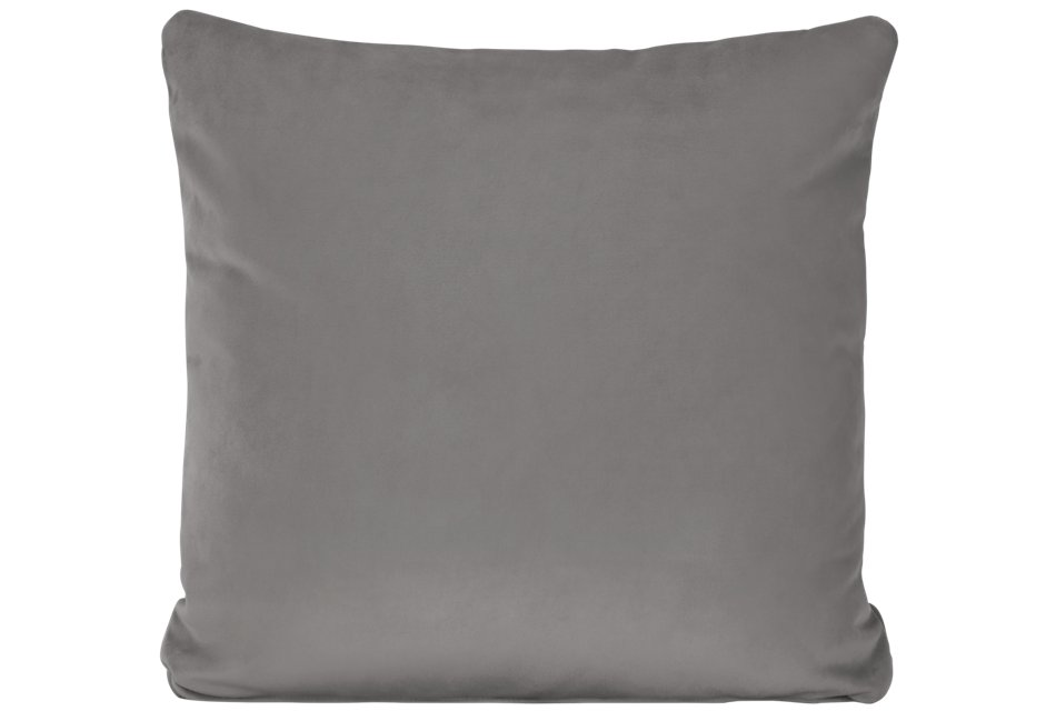 Royale Gray Fabric Square Accent Pillow