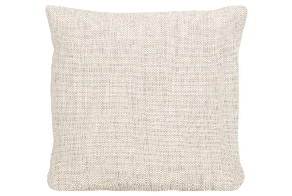 Brisbane Light Beige  Fabric Square Accent Pillow