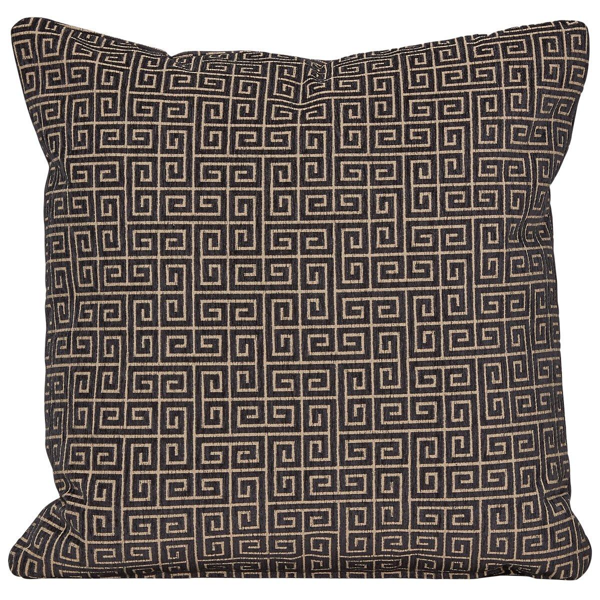 Keys Black Fabric Square Accent Pillow