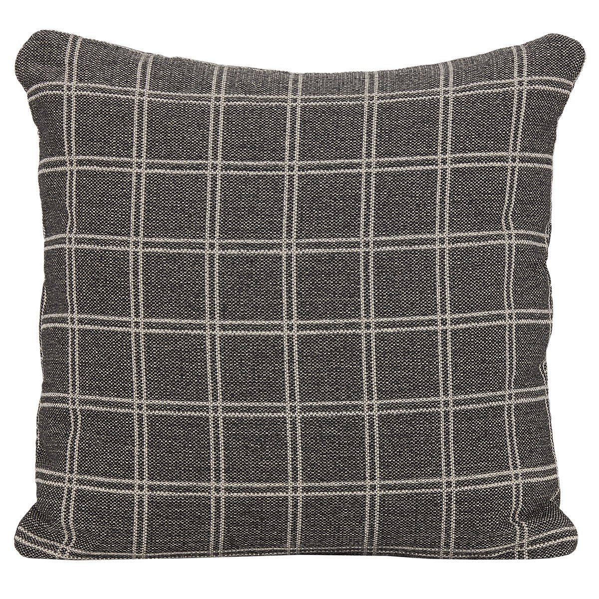 Wise Gray Fabric Accent Pillow