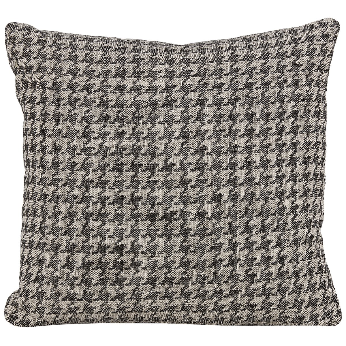 Clever Gray Fabric Accent Pillow