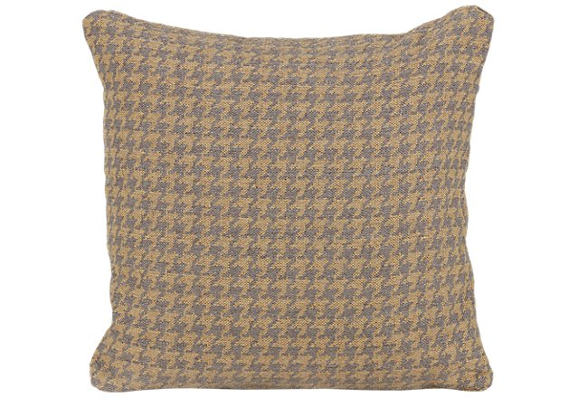 Clever Yellow Fabric Accent Pillow