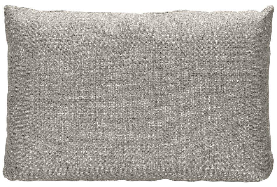 Harper GRAY FABRIC Rectangular Accent Pillow