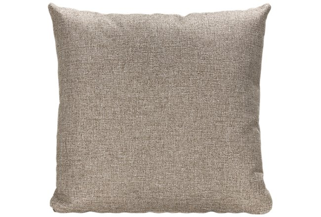Harper Dark Taupe Fabric Accent Pillow