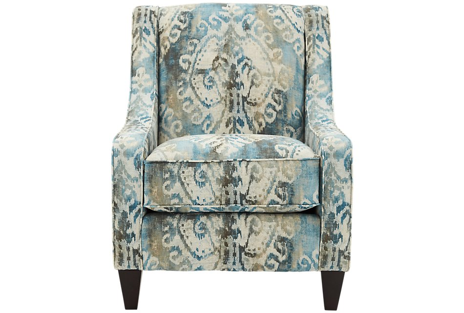 Prime Soledad Blue Fabric Accent Chair Home Accents Accent Machost Co Dining Chair Design Ideas Machostcouk