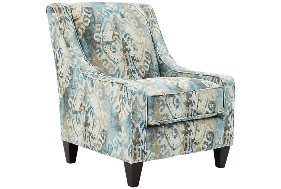 Wondrous Soledad Blue Fabric Accent Chair Home Accents Accent Machost Co Dining Chair Design Ideas Machostcouk