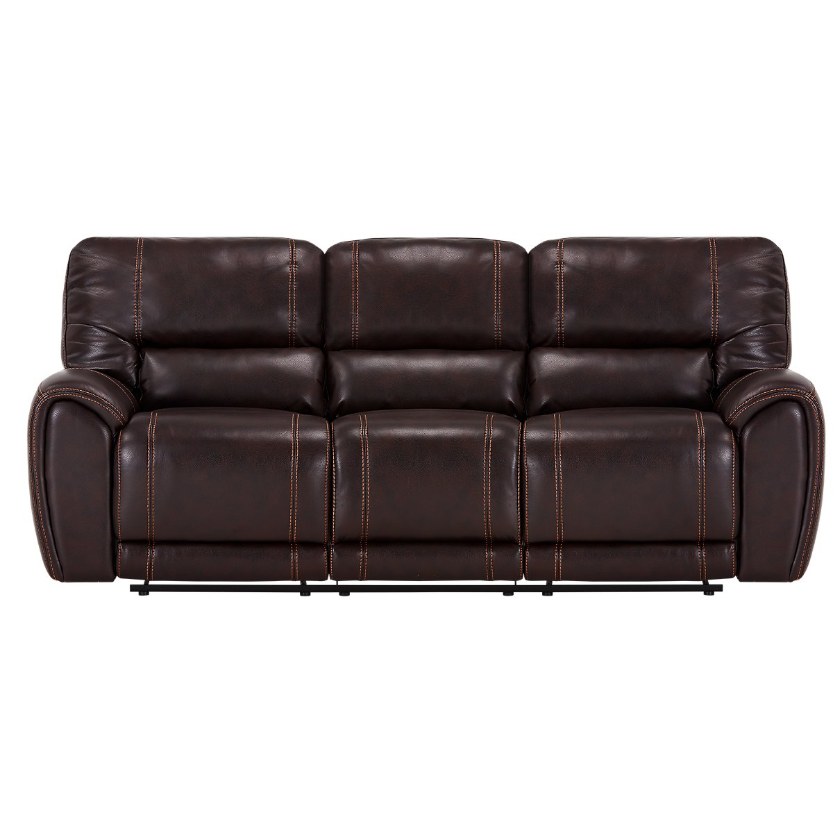 Bailey Dark Brown Microfiber Reclining Sofa