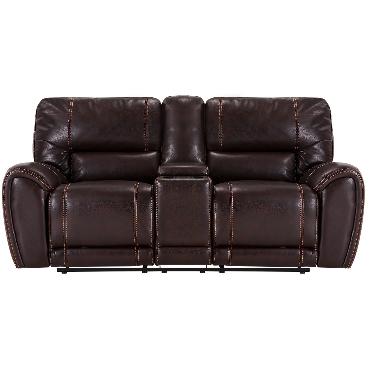 City Furniture: Bailey Dark Brown Microfiber Reclining