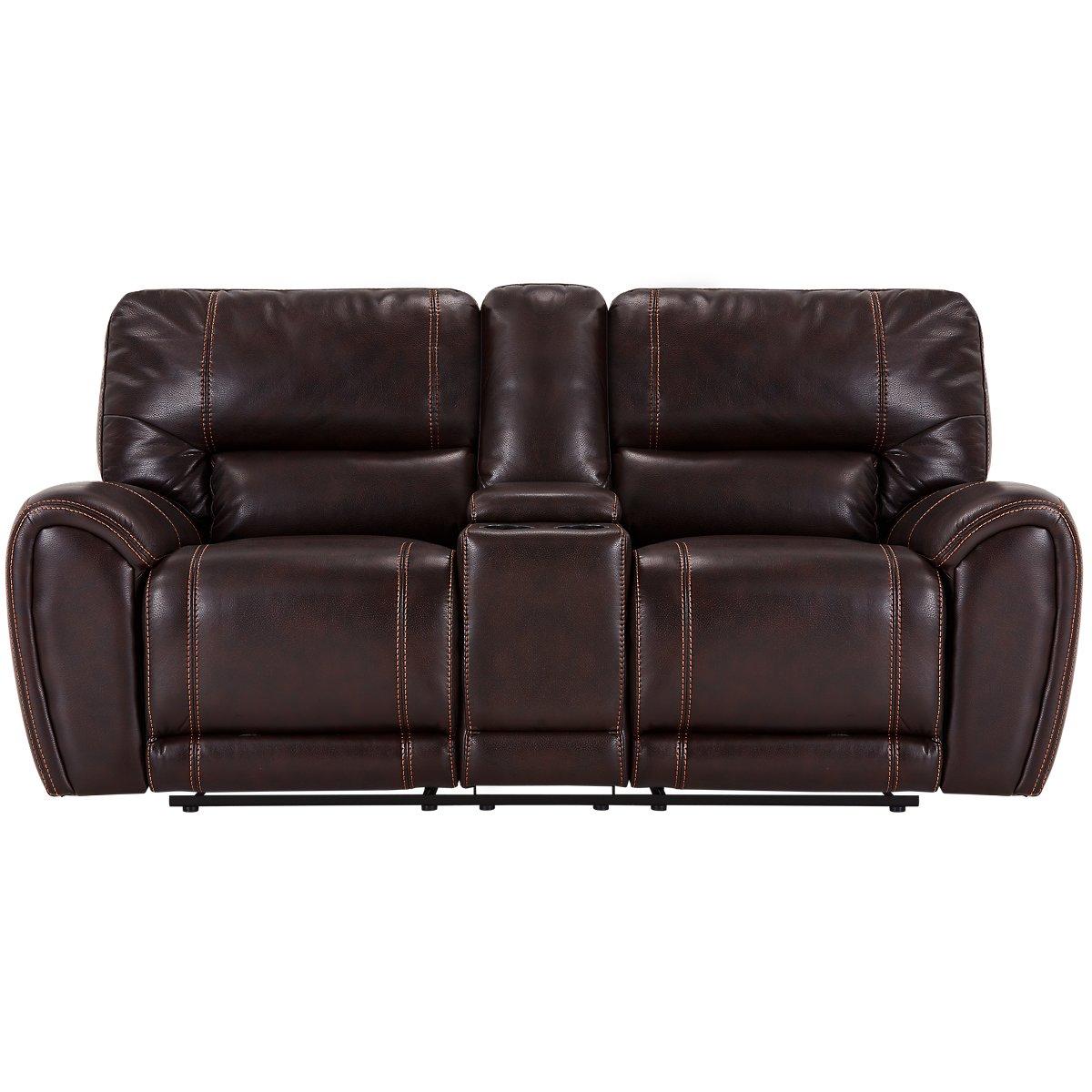 City Furniture Bailey Dark Brown Microfiber Power