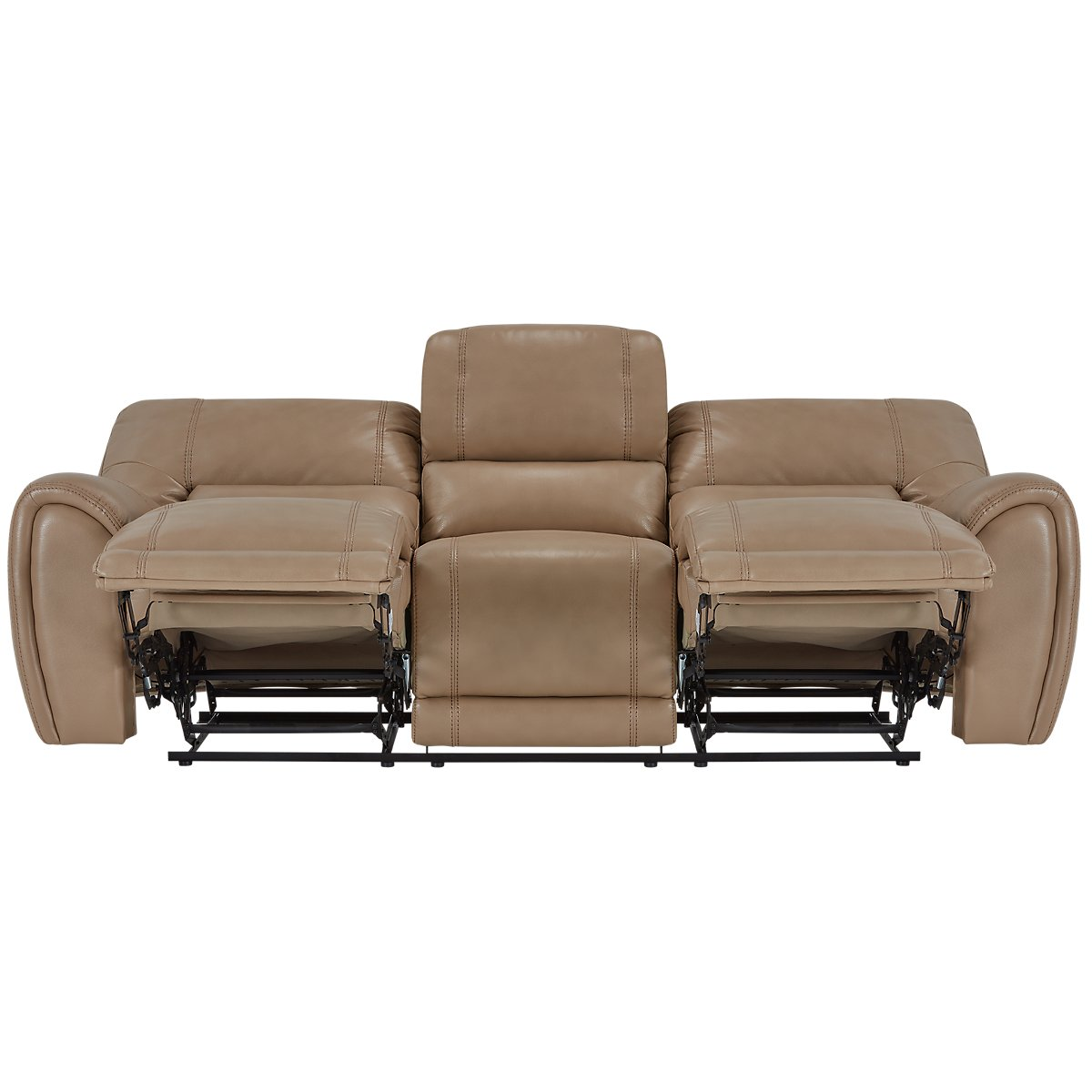 Bailey Taupe Microfiber Reclining Sofa