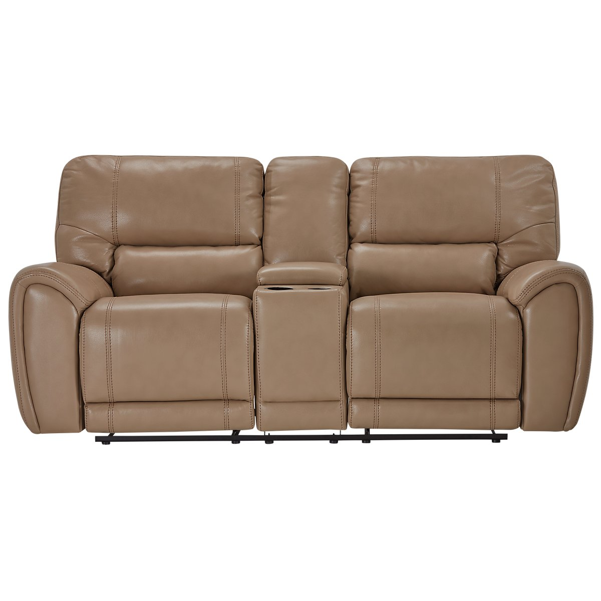 City Furniture: Bailey Taupe Microfiber Reclining Console