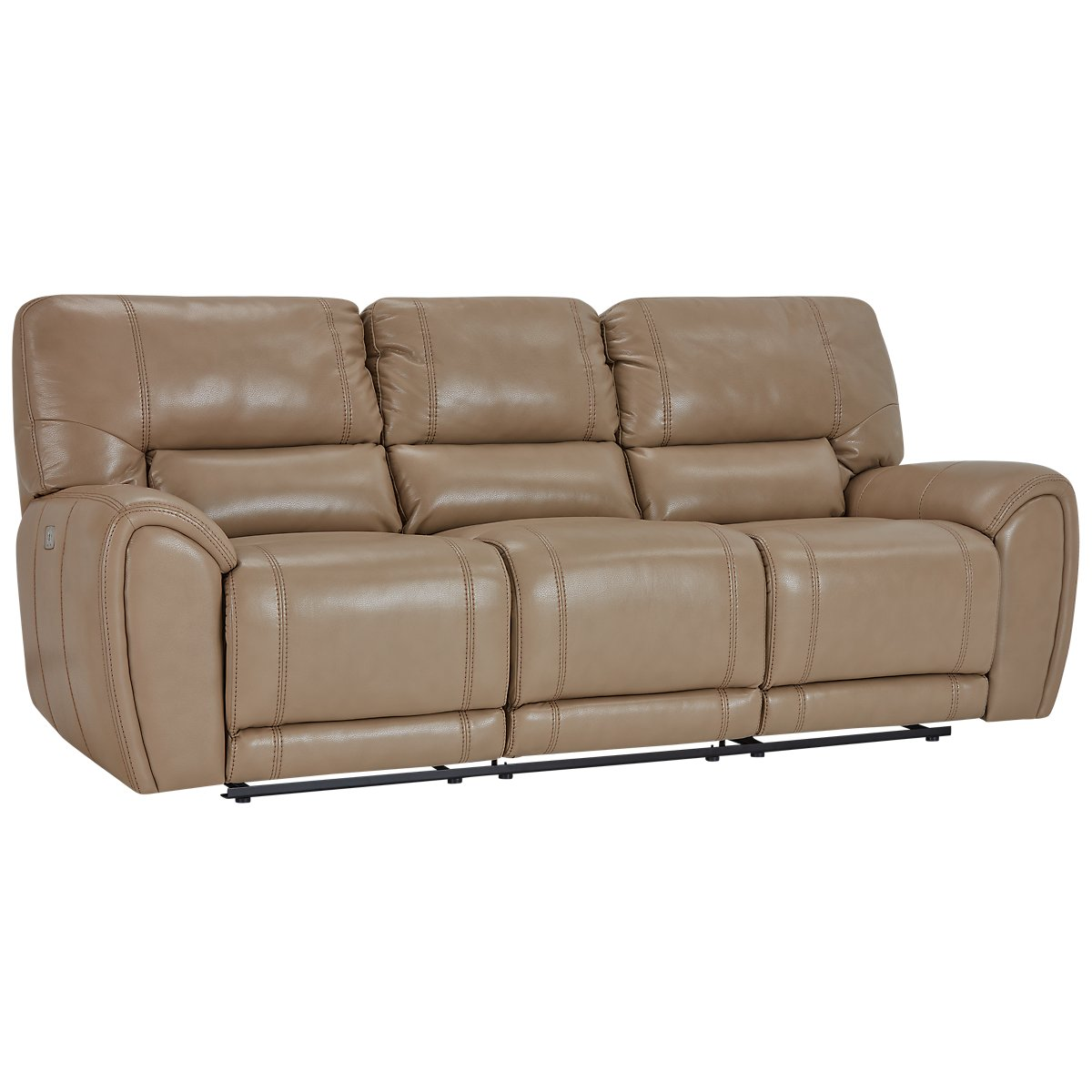 Bailey Taupe Microfiber Power Reclining Sofa