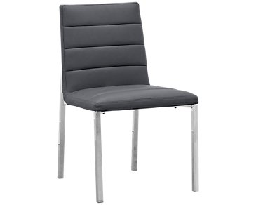 Amalfi Gray Upholstered Side Chair