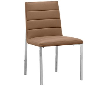 Amalfi Brown Upholstered Side Chair