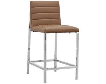 """Amalfi Brown Upholstered 24"""" Barstool"""