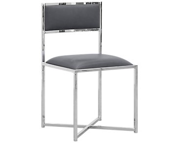 Amalfi Gray Stainless Steel Side Chair