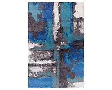 Unison Blue 8X10 Area Rug