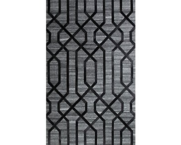 Alloy Black 5X8 Area Rug