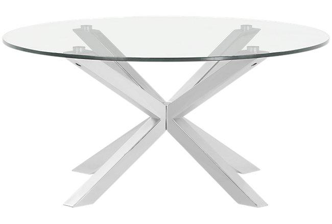 Heath Glass Round Coffee Table