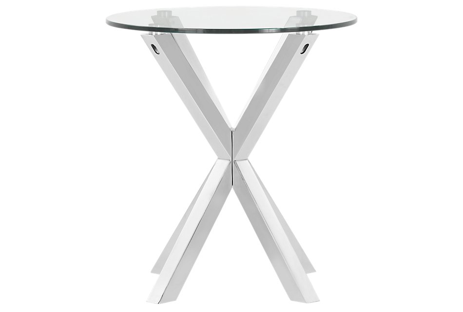 Heath Glass Round End Table