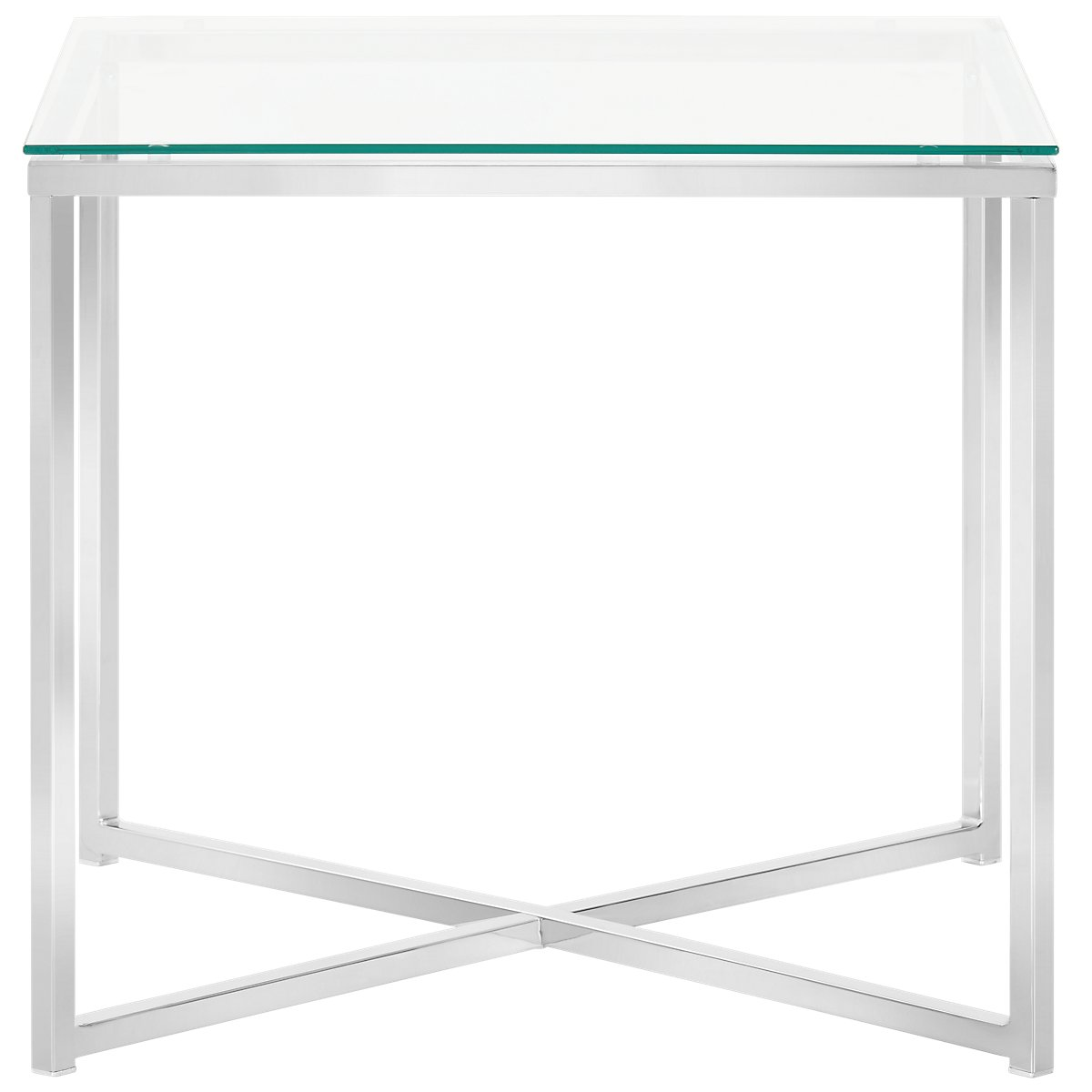 Kross Glass Clear Square End Table