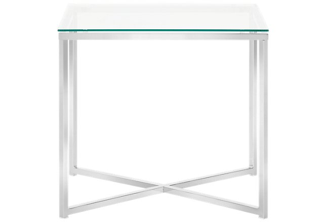 Kross Glass Square End Table