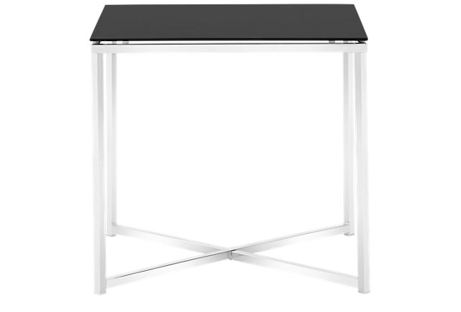 Kross Black Glass Square End Table