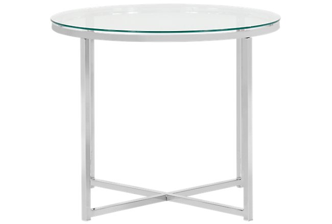 Kross Clear Glass Round End Table