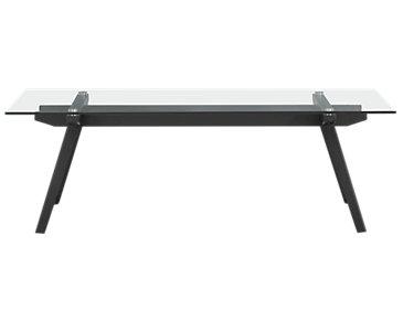 Miles Glass Rectangular Coffee Table