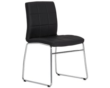 Caleb Black Upholstered Side Chair