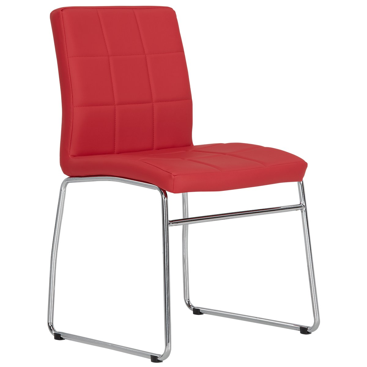 Caleb Red Upholstered Side Chair