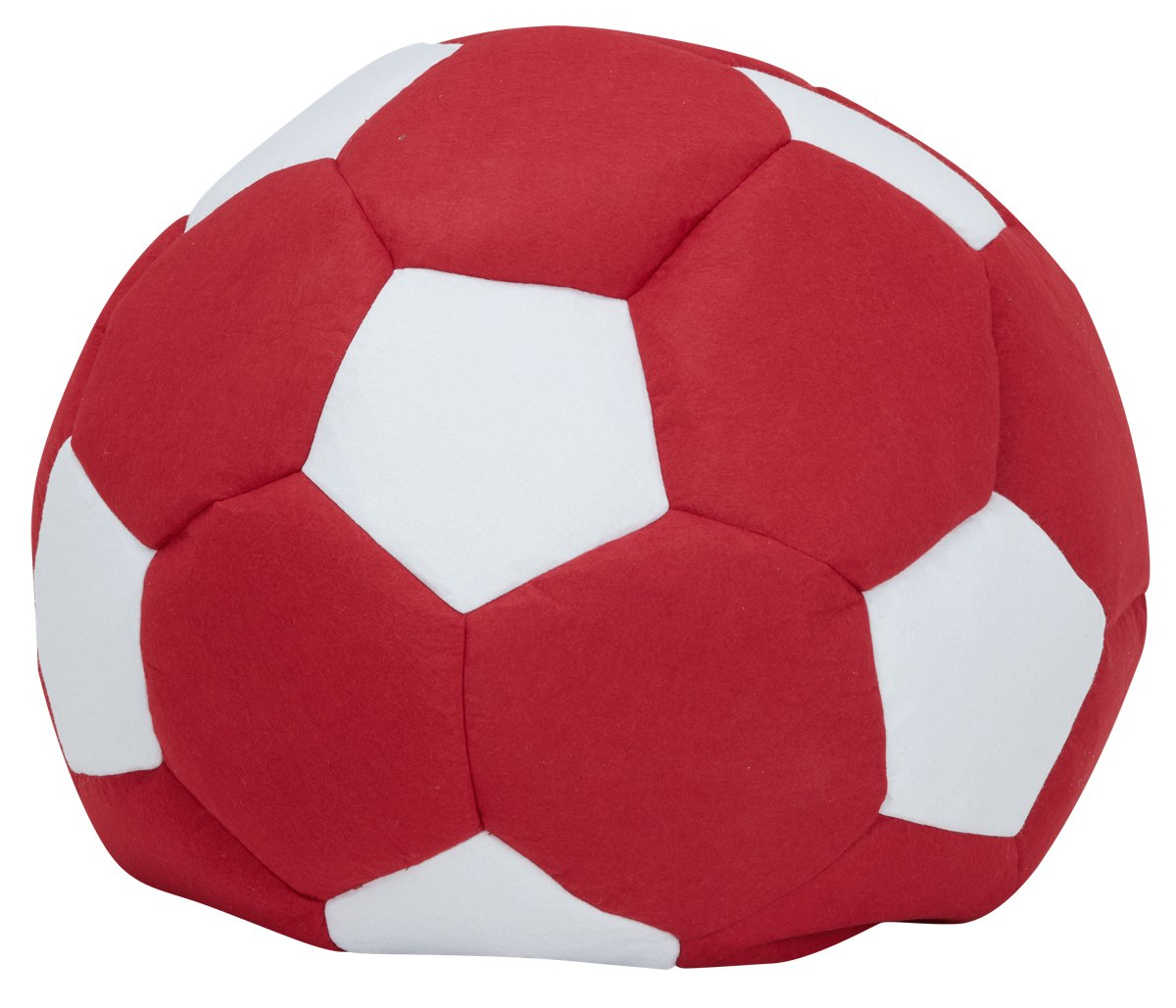 Soccer Red Bean Bag