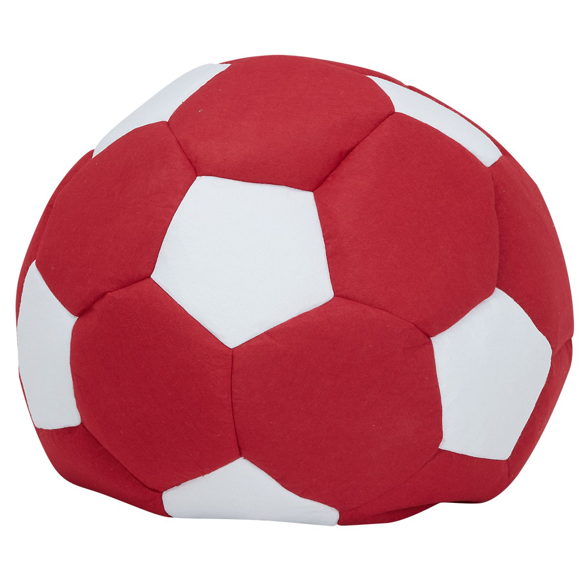Soccer Red Bean Bag