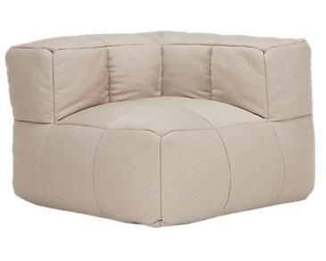 Modular Taupe Corner Chair