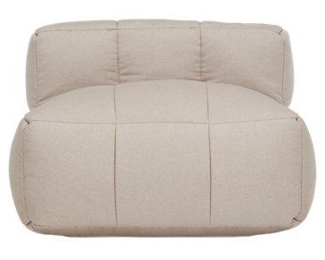 Modular Taupe Armless Chair