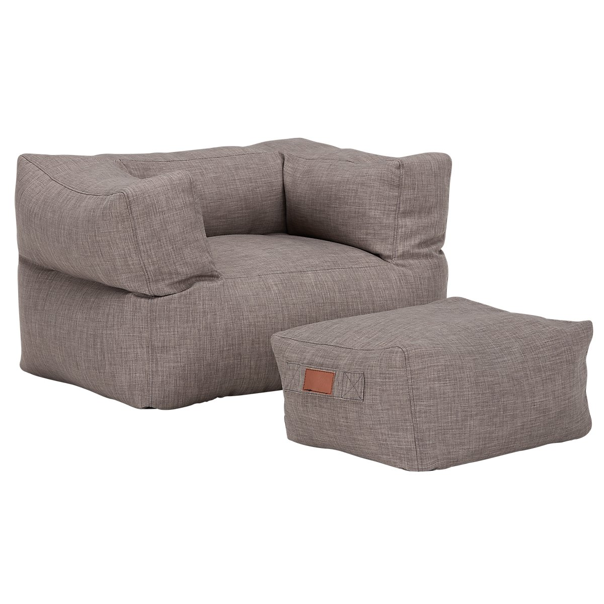 Cube Gray Chair & Ottoman