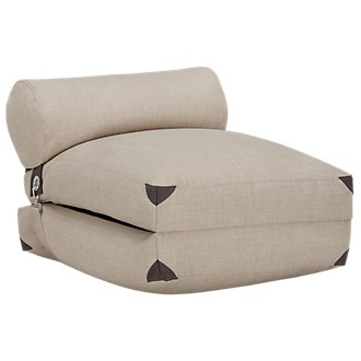Canvas Light Beige Bean Bag