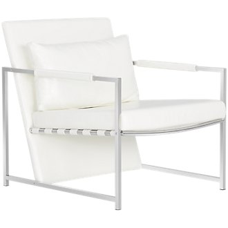 Russell White Upholstered Accent Chair