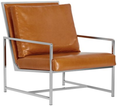 harvey medium brown upholstered accent chair
