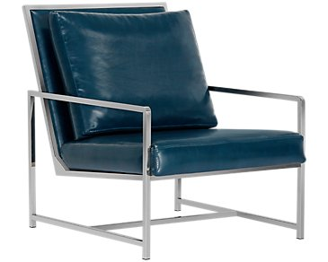 City Furniture Harvey Green Upholstered Accent Chair