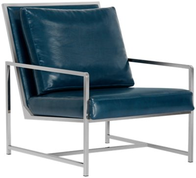 harvey blue upholstered accent chair