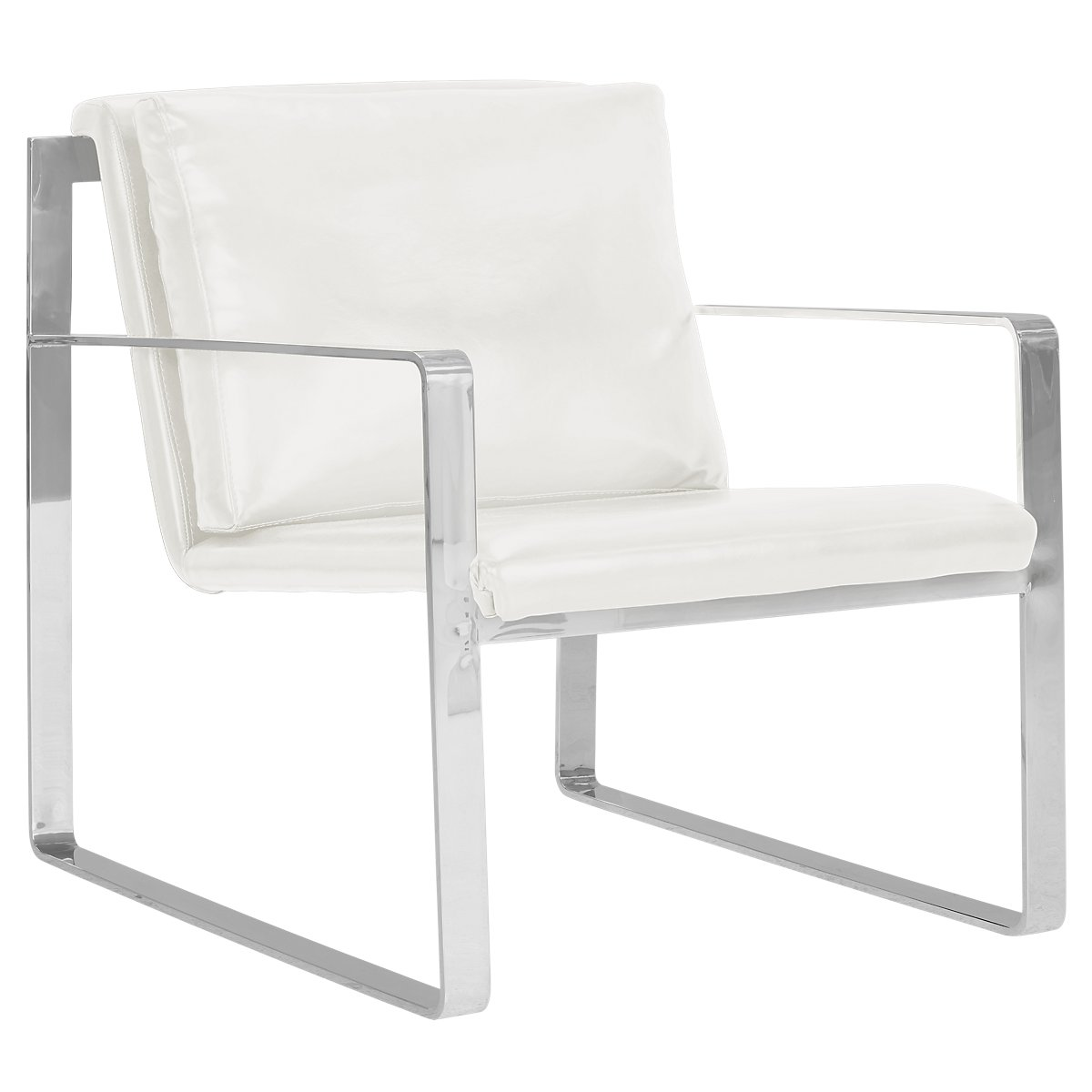 Roslin White Upholstered Accent Chair
