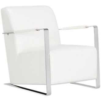 Lee White Upholstered Accent Chair