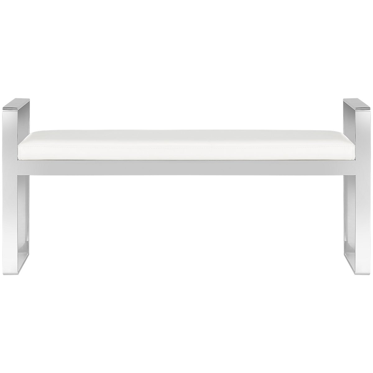 City Furniture Angelo White Upholstered Bench